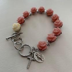 Armband roze rozen