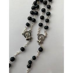 Handgemaakt - zwarte parels...