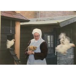 Zuster met kip